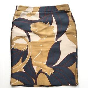 Ann Taylor Black Label Pencil Skirt Cougar Design